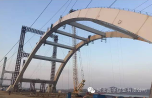 XIN YU welding wire successfully used in China's first weathering steel long-span steel arch bridge